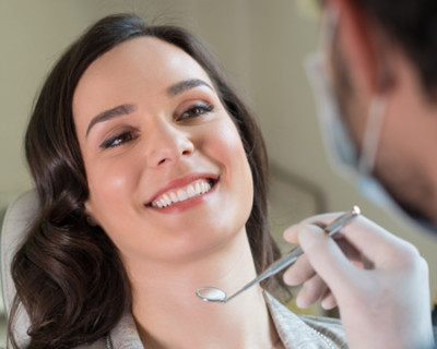 woman getting composite restoration