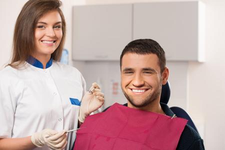 dentist performing amalgam-free dentistry