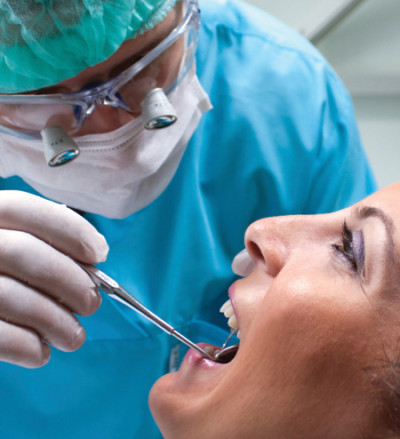 dentist examing patient